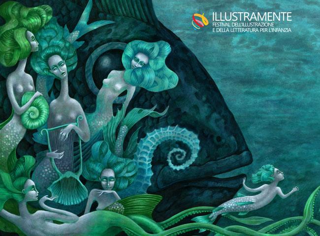 """Illustramente - Inaugurazione mostre di illustrazione per l'infanzia """"La Sirenetta"""" di Michelangelo Rossato (Venezia,1991)/Illustramente"""